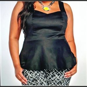 Torrid Dressy-ish Peplum Top Size 2 New!